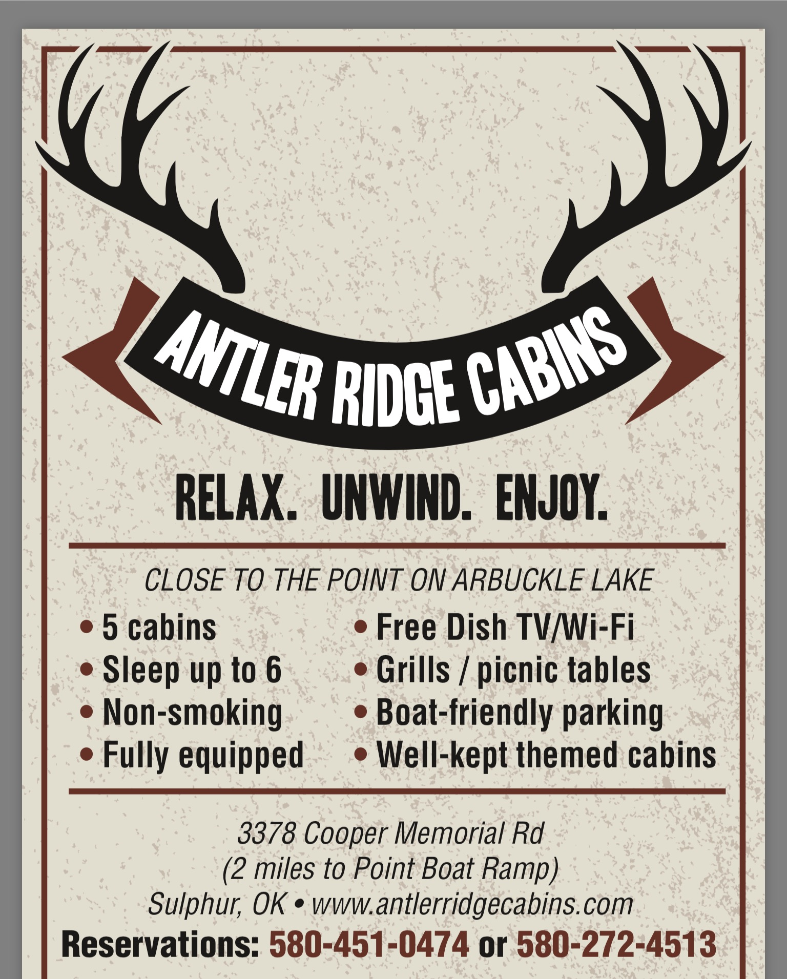 2016 Antler Ridge Cabins, LLC. All Rights Reserved. | Website Maintained By  OklahomaWebDesign.com.